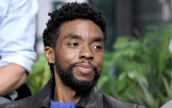 """NEW YORK, NEW YORK - NOVEMBER 20:  Actor Chadwick Boseman visits the Build Series to discuss the film """"21 Bridges"""" at Build Studio on November 20, 2019 in New York City. (Photo by Gary Gershoff/Getty Images)"""