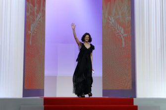Italian actress and director Asia Argento arrives to give the Jury Prize during the closing ceremony at the 63rd Cannes Film Festival on May 23, 2010 in Cannes.  AFP PHOTO / VALERY HACHE (Photo credit should read VALERY HACHE/AFP via Getty Images)
