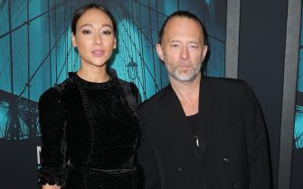 """LOS ANGELES, CALIFORNIA - OCTOBER 28:  (L-R) Dajana Roncione and Thom Yorke attends the Premiere of Warner Bros Pictures' """"Motherless Brooklyn"""" on October 28, 2019 in Los Angeles, California. (Photo by Leon Bennett/Getty Images)"""