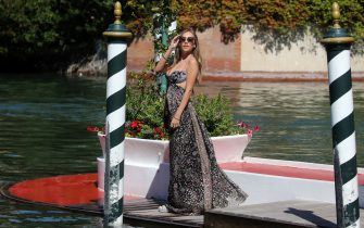 VENICE, ITALY - SEPTEMBER 02: Ester Exposito is seen arriving at the Excelsior during the 77th Venice Film Festival on September 02, 2020 in Venice, Italy. (Photo by Elisabetta A. Villa/Getty Images)
