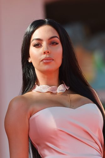 """VENICE, ITALY - SEPTEMBER 03:  Georgina Rodriguez walks the red carpet ahead of the movie """"The Human Voice"""" at the 77th Venice Film Festival at  on September 03, 2020 in Venice, Italy. (Photo by Stefania D'Alessandro/WireImage,)"""