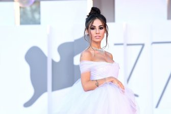 """VENICE, ITALY - SEPTEMBER 03: Giulia De Lellis walks the red carpet ahead of the movie """"Amants"""" at the 77th Venice Film Festival at  on September 03, 2020 in Venice, Italy. (Photo by Daniele Venturelli/WireImage,)"""