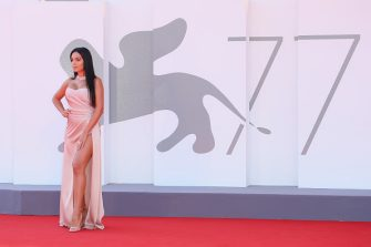 """VENICE, ITALY - SEPTEMBER 03: Georgina Rodriguez walks the red carpet ahead of the movie """"The Human Voice"""" and """"Quo Vadis, Aida?"""" at the 77th Venice Film Festival at  on September 03, 2020 in Venice, Italy. (Photo by Ernesto S. Ruscio/Getty Images)"""