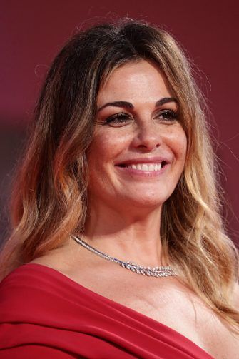"""VENICE, ITALY - SEPTEMBER 06: Vanessa Incontrada walks the red carpet ahead of the movie """"The World To Come"""" at the 77th Venice Film Festival on September 06, 2020 in Venice, Italy. (Photo by Vittorio Zunino Celotto/Getty Images)"""