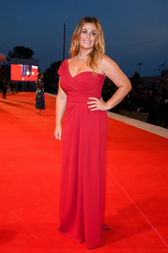 """VENICE, ITALY - SEPTEMBER 06: Vanessa Incontrada walks the red carpet ahead of the movie """"The World To Come"""" at the 77th Venice Film Festival on September 06, 2020 in Venice, Italy. (Photo by Pascal Le Segretain/Getty Images)"""