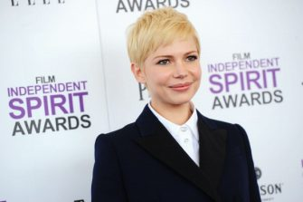 SANTA MONICA, CA - FEBRUARY 25:  Actress Michelle Williams arrives with Audi at the 2012 Film Independent Spirit Awards at Santa Monica Pier on February 25, 2012 in Santa Monica, California.  (Photo by Michael Buckner/WireImage)