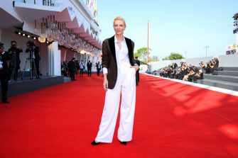 """VENICE, ITALY - SEPTEMBER 06: Cate Blanchett walks the red carpet ahead of the movie """"Khorshid"""" (Sun Children) at the 77th Venice Film Festival on September 06, 2020 in Venice, Italy. (Photo by Pascal Le Segretain/Getty Images)"""