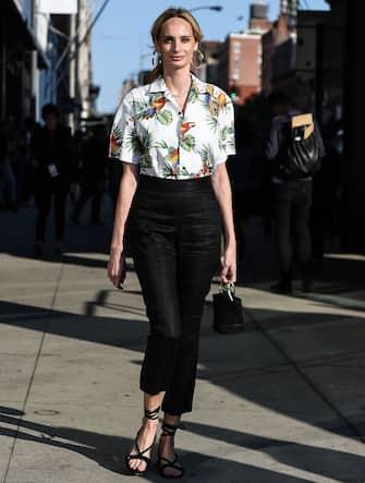 NEW YORK, NY - SEPTEMBER 10:  Lauren Santo Domingo is seen outside the DVF show during New York Fashion Week: Women's S/S 2018 on September 10, 2017 in New York City.  (Photo by Daniel Zuchnik/Getty Images)