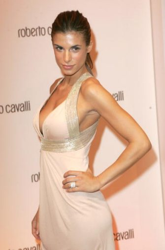 PARIS - OCTOBER 04:  Elisabetta Canalis attends the cocktail party to celebrate the opening of the Roberto Cavalli flagship store avenue Montaigne on October 4, 2007 in Paris  (Photo by Tony Barson/WireImage)