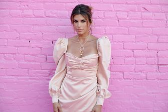 LOS ANGELES, CALIFORNIA - AUGUST 28: Elisabetta Canalis attends Pandora Street Of Loves on August 28, 2019 in Los Angeles, California. (Photo by Andrew Toth/Getty Images for Pandora)