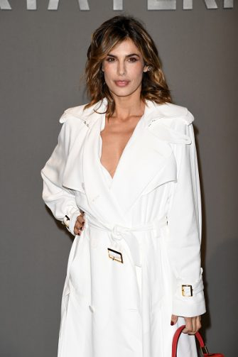 MILAN, ITALY - FEBRUARY 19: Elisabetta Canalis attends the Alberta Ferretti fashion show on February 19, 2020 in Milan, Italy. (Photo by Daniele Venturelli/Getty Images)