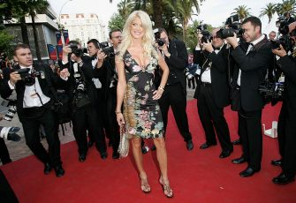 """CANNES, FRANCE - MAY 12:  Model Victoria Silvstedt attends the premiere of the film """"Match Point"""" at the Palais during the 58th International Cannes Film Festival May 12, 2005 in Cannes, France.  (Photo by MJ Kim/Getty Images)"""