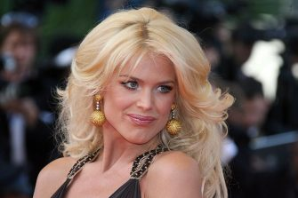 Cannes, FRANCE: Swedish actress/model Victoria Silvstedt poses upon arriving at the Festival Palace for the opening ceremony of the 60th edition of the Cannes Film Festival, southern France, 16 May 2007. The road movie set in the United States 'Blueberry Nights', directed by Hong Kong filmmaker Wong Kar Wai and starring soft-note singer Norah Jones is to open the Cannes film festival in France in a showy bow to the event's global credentials. A lavish sprinkle of Hollywood stars and veteran film-makers, a dash of arthouse fare and new international discoveries -- the Cannes filmfest celebrates its 60th edition with a tried and true recipe for success. AFP PHOTO / VALERY HACHE (Photo credit should read VALERY HACHE/AFP via Getty Images)