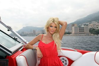Swedish model, actress, singer and TV host Victoria Silvstedt poses on board a motor boat May 31, 2012 in Monaco. AFP PHOTO / VALERY HACHE        (Photo credit should read VALERY HACHE/AFP/GettyImages)