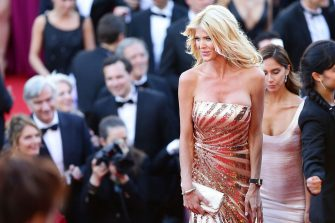 """CANNES, FRANCE - MAY 20:  Victoria Silvstedt attends the """"Two Days, One Night"""" (Deux Jours, Une Nuit) premiere during the 67th Annual Cannes Film Festival on May 20, 2014 in Cannes, France.  (Photo by Vittorio Zunino Celotto/Getty Images)"""