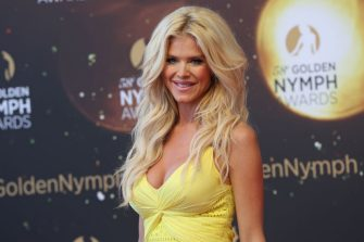 Victoria Silvstedt poses during a ceremony at the 58nd Monte-Carlo Television Festival in Monaco on June 19, 2018. (Photo by VALERY HACHE / AFP)        (Photo credit should read VALERY HACHE/AFP via Getty Images)