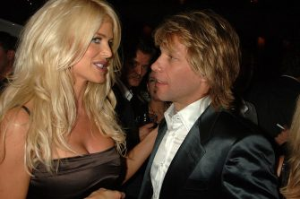 MONACO - OCTOBER 16:  (EMBARGOED FOR PUBLICATION IN UK TABLOID NEWSPAPERS UNTIL 48 HOURS AFTER CREATE DATE AND TIME)  Victoria Silversted and Jon Bon Jovi attend the TopShop party October 16, 2005 in Monaco.  (Photo by Dave Benett/Getty Images)