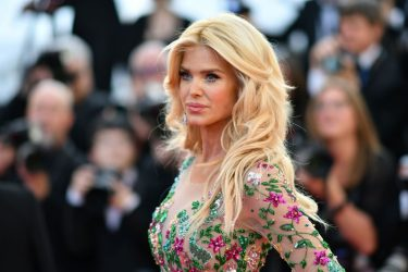 """Swedish model Victoria Silvstedt arrives for the screening of the film """"Rocketman"""" at the 72nd edition of the Cannes Film Festival in Cannes, southern France, on May 16, 2019. (Photo by Alberto PIZZOLI / AFP) (Photo by ALBERTO PIZZOLI/AFP via Getty Images)"""