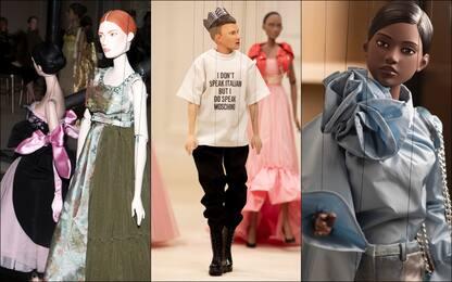 Moschino, marionette indossatrici per collezione primavera-estate 2021