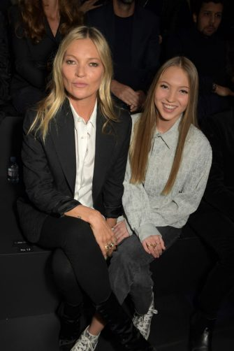 PARIS, FRANCE - JANUARY 17:  Kate Moss and Lila Moss attend the Dior Homme Menswear Fall/Winter 2020-2021 show as part of Paris Fashion Week on January 17, 2020 in Paris, France.  (Photo by David M. Benett/Dave Benett/Getty Images)