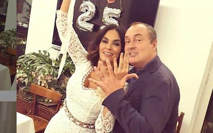 Maria Grazia Cucinotta, festa per il 25° anniversario di matrimonio