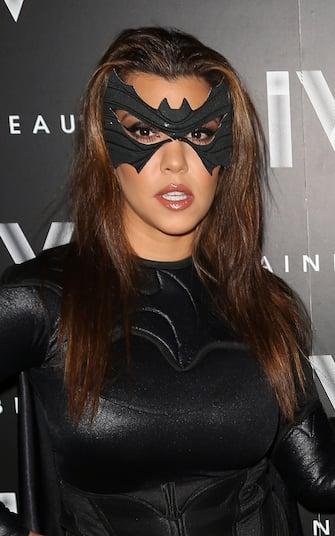 MIAMI BEACH, FL - OCTOBER 31: Kourtney Kardashian arrives at Kim Kardashian's Halloween party at LIV nightclub at Fontainebleau Miami on October 31, 2012 in Miami Beach, Florida. (Photo by Alexander Tamargo/Getty Images)