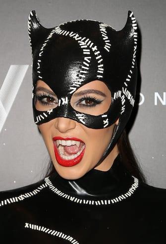 MIAMI BEACH, FL - OCTOBER 31: Kim Kardashian arrives at Kim Kardashian's Halloween party at LIV nightclub at Fontainebleau Miami on October 31, 2012 in Miami Beach, Florida. (Photo by Alexander Tamargo/Getty Images)