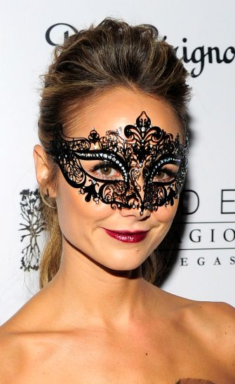 LAS VEGAS, NV - OCTOBER 27:  Actress/model Stacy Keibler arrives at Hyde Bellagio at the Bellagio to host a Halloween masquerade party on October 27, 2012 in Las Vegas, Nevada.  (Photo by Steven Lawton/Getty Images for Hyde Bellagio)