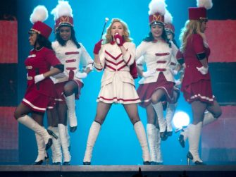 DETROIT, MI - NOVEMBER 08:  Singer Madonna performs in concert at Joe Louis Arena on November 8, 2012 in Detroit, Michigan.  (Photo by Scott Legato/Getty Images)