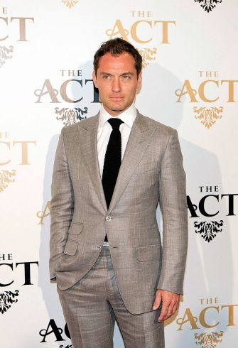 DUBAI, UNITED ARAB EMIRATES - MARCH 24: Jude Law attends the launch party for The Act Dubai, the World's highest theatre club at Shangri-La Hotel on March 24, 2013 in Dubai, United Arab Emirates. (Photo by Haider Yousuf/Getty Images)