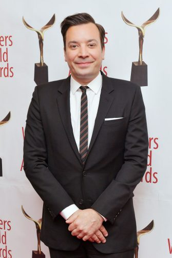 NEW YORK, NEW YORK - FEBRUARY 01: Jimmy Fallon poses backstage at the 72nd Writers Guild Awards at Edison Ballroom on February 01, 2020 in New York City. (Photo by Roy Rochlin/Getty Images for Writers Guild of America, East )