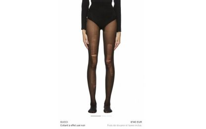 Gucci e le calze rotte da 140 euro che fanno scalpore ma sono sold out