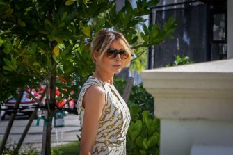 First Lady Melania Trump arrives to vote at the Morton and Barbara Mandel Recreation Center in Palm Beach, Florida on November, 3, 2020. - The First Lady is registered to vote at her address at the Mar-a-Lago Club in Palm Beach, Florida. The center was closed for approximately 45 minutes to accommodate Mealnia Trumps vote. With its 29 electoral votes, Florida is crucial to both candidates. (Photo by Zak BENNETT / AFP) (Photo by ZAK BENNETT/AFP via Getty Images)