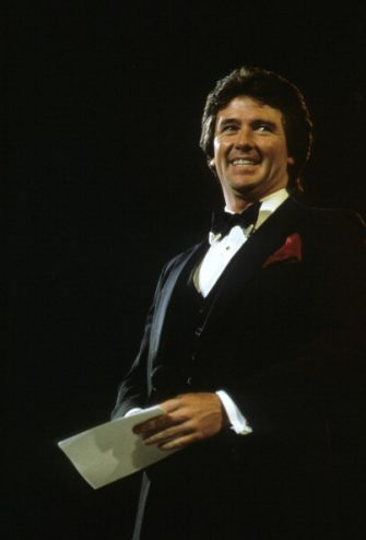 Patrick Duffy during the Fashion Aid show in aid of African famine relief, UK, 5th November 1985.  (Photo by Georges De Keerle/Getty Images)