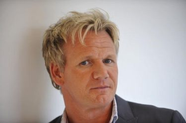 """BEVERLY HILLS, CA - MARCH 18: Gordon Ramsay pose's for a picture at the Launch of his """"One Potato Two Potato Inc"""" production company on March 18, 2010 in Beverly Hills, California. (Photo by Toby Canham/Getty Images)"""