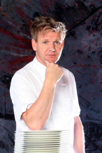 SIENA, ITALY - JULY 06: Scottish chef  Gordon Ramsay poses at the Castel Monastero Resort on July 6, 2012 in Castel Monastero - Siena, Italy.  (Photo by Franco Origlia/Getty Images)