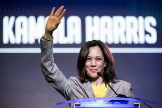 COLUMBIA, SC - JUNE 22: Democratic presidential candidate, Sen. Kamala Harris (D-CA) addresses the crowd at the 2019 South Carolina Democratic Party State Convention on June 22, 2019 in Columbia, South Carolina. Democratic presidential hopefuls are converging on South Carolina this weekend for a host of events where the candidates can directly address an important voting bloc in the Democratic primary. (Photo by Sean Rayford/Getty Images)