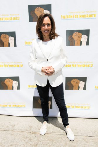 LOS ANGELES, CA - JUNE 30:  Senator Kamala Harris attends 'Families Belong Together  - Freedom for Immigrants March Los Angeles' at Los Angeles City Hall on June 30, 2018 in Los Angeles, California.  (Photo by Emma McIntyre/Getty Images for Families Belong Together LA)