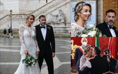Fausto Brizzi e Silvia Salis sposi: le immagini del matrimonio. FOTO
