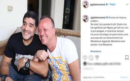 Addio a Maradona, il ricordo social dei vip italiani