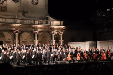 Il concerto finale del Festival dei Due Mondii a Spoleto, 14 luglio 2019. ANSA/Gianluigi Basilietti