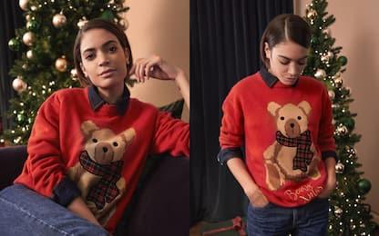 Elodie disegna un maglione di Natale per beneficenza