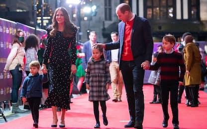 William e Kate, primo red carpet con i tre figli