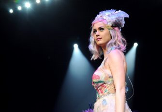 """WASHINGTON, DC - JUNE 24:  (Exclusive Coverage; Editorial Use Only) Katy Perry performs onstage during """"The Prismatic World Tour"""" at the Verizon Center on June 24, 2014 in Washington, DC.  (Photo by Kevin Mazur/WireImage)"""