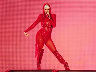 BIRMINGHAM, ENGLAND - JUNE 18:  Katy Perry performs on stage during her Witness Tour at  Birmingham Arena on June 18, 2018 in Birmingham, England.  (Photo by Joseph Okpako/WireImage)