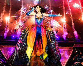 BELFAST, UNITED KINGDOM - MAY 07: Katy Perry performs on stage on the opening night of her Prismatic World Tour at Odyssey Arena on May 7, 2014 in Belfast, Northern Ireland. (Photo by Christie Goodwin/Getty Images)