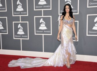 LOS ANGELES, CA - FEBRUARY 13:  Singer Katy Perry arrives at The 53rd Annual GRAMMY Awards held at Staples Center on February 13, 2011 in Los Angeles, California.  (Photo by John Shearer/WireImage)