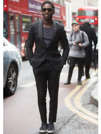 LONDON, ENGLAND - JANUARY 10:  Rapper Tinie Tempah at the London Collections: Men AW15 at  on January 10, 2015 in London, England.  (Photo by Melodie Jeng/Getty Images)