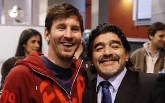 Leo Messi e Maradona