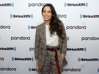 NEW YORK, NEW YORK - FEBRUARY 07: (EXCLUSIVE COVERAGE) Rosario Dawson visits SiriusXM Studios on February 07, 2020 in New York City. (Photo by Bonnie Biess/Getty Images)